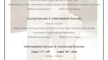 GBA 2014 Summer Intensive Ballet – Limited Space Still Available
