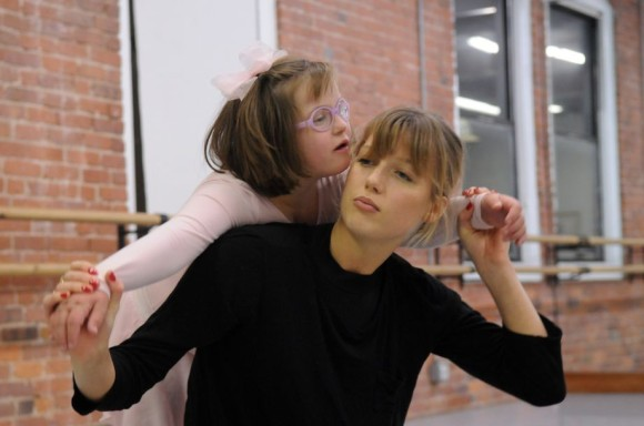 The Greenwich Ballet Academy's new class for students with Down syndrome takes place in their studio space in Port Chester, NY, Nov. 14, 2015. The program is led by Greenwich Ballet dancers Olivia Thurman and Lydia Currie. This session featured Keenan Kampa, the inspiration behind the new class and a dancer famed for her success in Russia's Mariinsky Ballet. Kampa is dedicated to adaptive dance for people with Down syndrome and visited the Greenwich Ballet Academy to assist with this class.  Phpto courtesy Keelin Daly / For Hearst Connecticut Media.