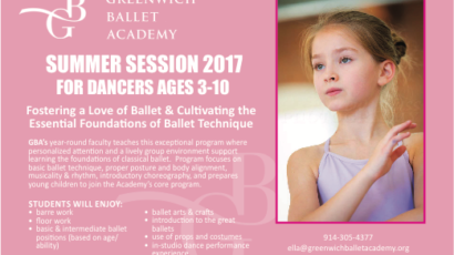 GBA 2017 Summer Sessions for Dancers Ages 3 – 10